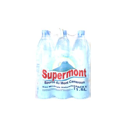 Eau Minerale Supermont-Pack de  6 X 1,5L